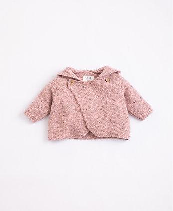 Casaco tricot com fibras recicladas e capucho - Play Up