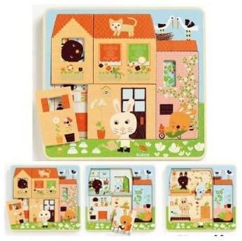 Puzzle de Camadas com animais - CHEZ CAROT