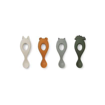 Colheres em silicone - Pack 4 - Liewood