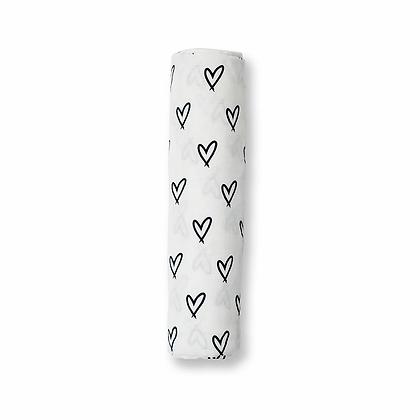 Musselina 120x120 Corações - LuLuJo