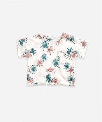 T-shirt em algodão orgânico e linho