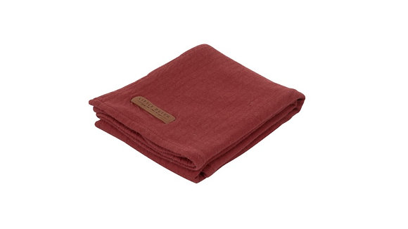 Musselina 120x120 Pure Indian Red