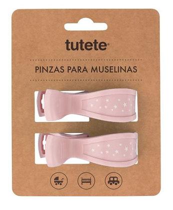 Pinças Rosa para Musselinas - Tutete