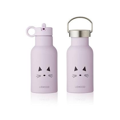 Garrafa  De Água Térmica - Cat light lavender - Liewood