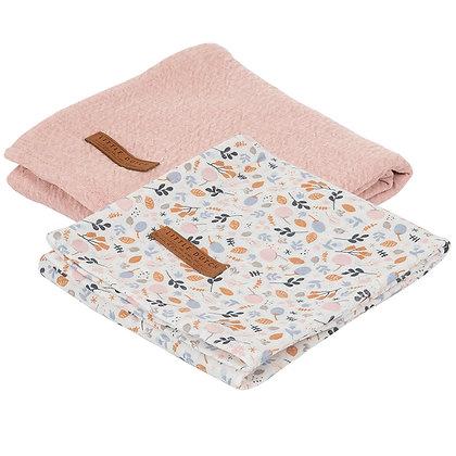 Swaddle 70 x 70 – Set de 2 (Pure Pink & Spring Flowers)