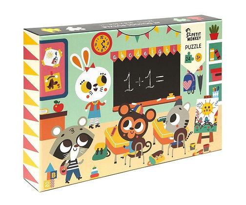 Puzzle 24 peças - Na Escola