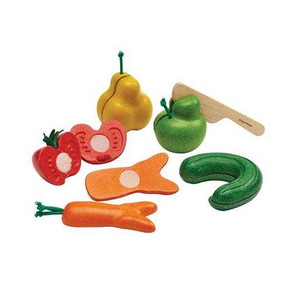 Frutos e Vegetais c/ velcro PlanToys