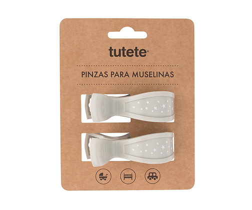 Pinças para Musselinas - Tutete - Cinza