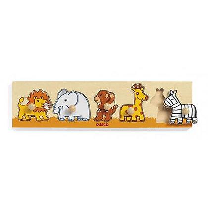 Puzzle com pegas - Animais