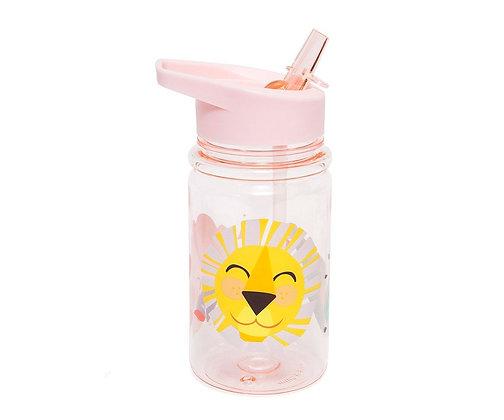 Garrafa com palhinha - leão sorridente