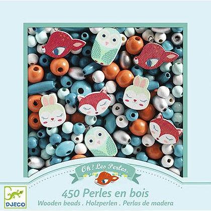 Contas em Madeira - Animais - Djeco