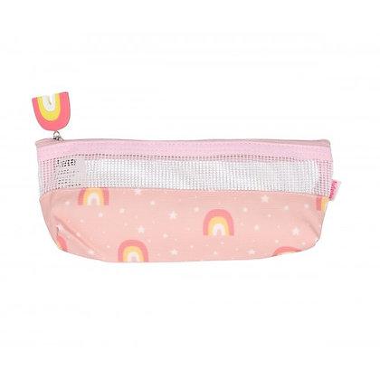 Bolsa para Escova de Dentes | Arco-Íris Rosa