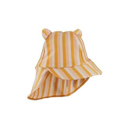 Chapéu de Sol Senia - Riscas Peach/sandy/yellow mellow - Liewood