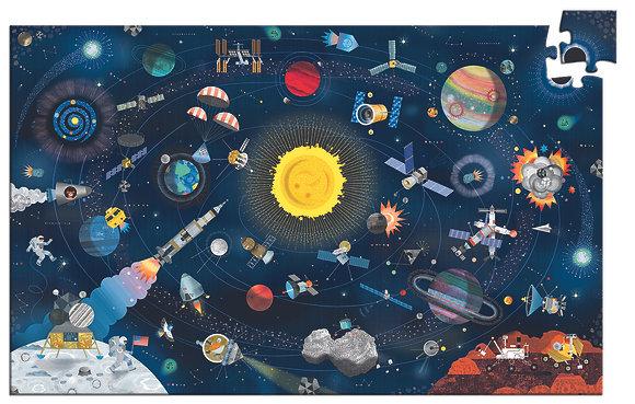 Puzzle 200 PCS - Espaço - Djeco