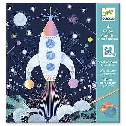 Cartões Holográficos - Missão Cósmica - Djeco
