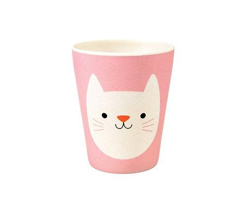 Copo  em bambu - Cookie the Cat