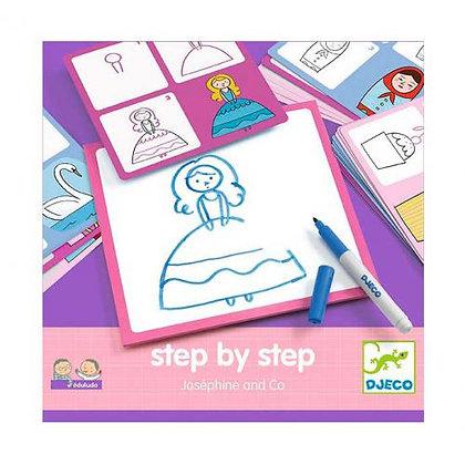 Desenhar passo a passo - Joséphine - Djeco