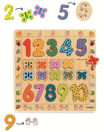 Jogo aprender a contar - 1 a 10 - Djeco