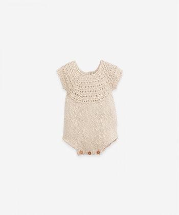 Macacão tricot com botões de madeira - Dandelion - Play Up