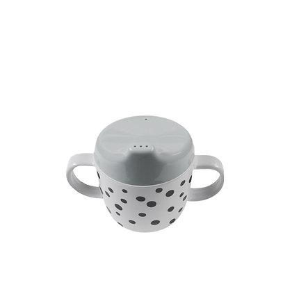 Copo de aprendizagem - Happy dots Grey