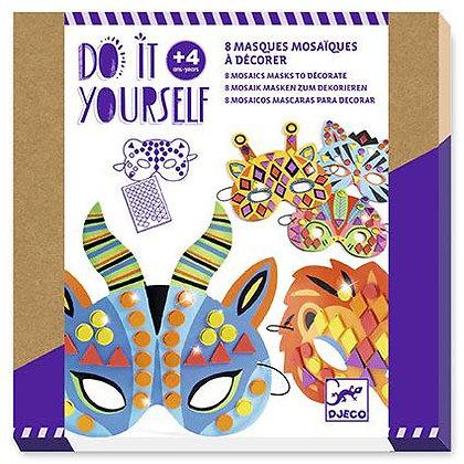 8 Máscaras para decorar - Animais da Selva - Djeco