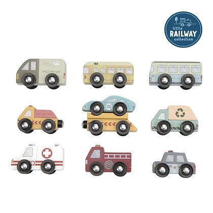 Mini Veículos de Serviço – Railway Collection (Pista não incluída)