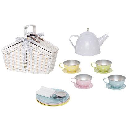 Cestinha de Piquenique com conjunto de chá - Jabadabado