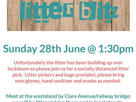Socially Distanced #LitterBlitz