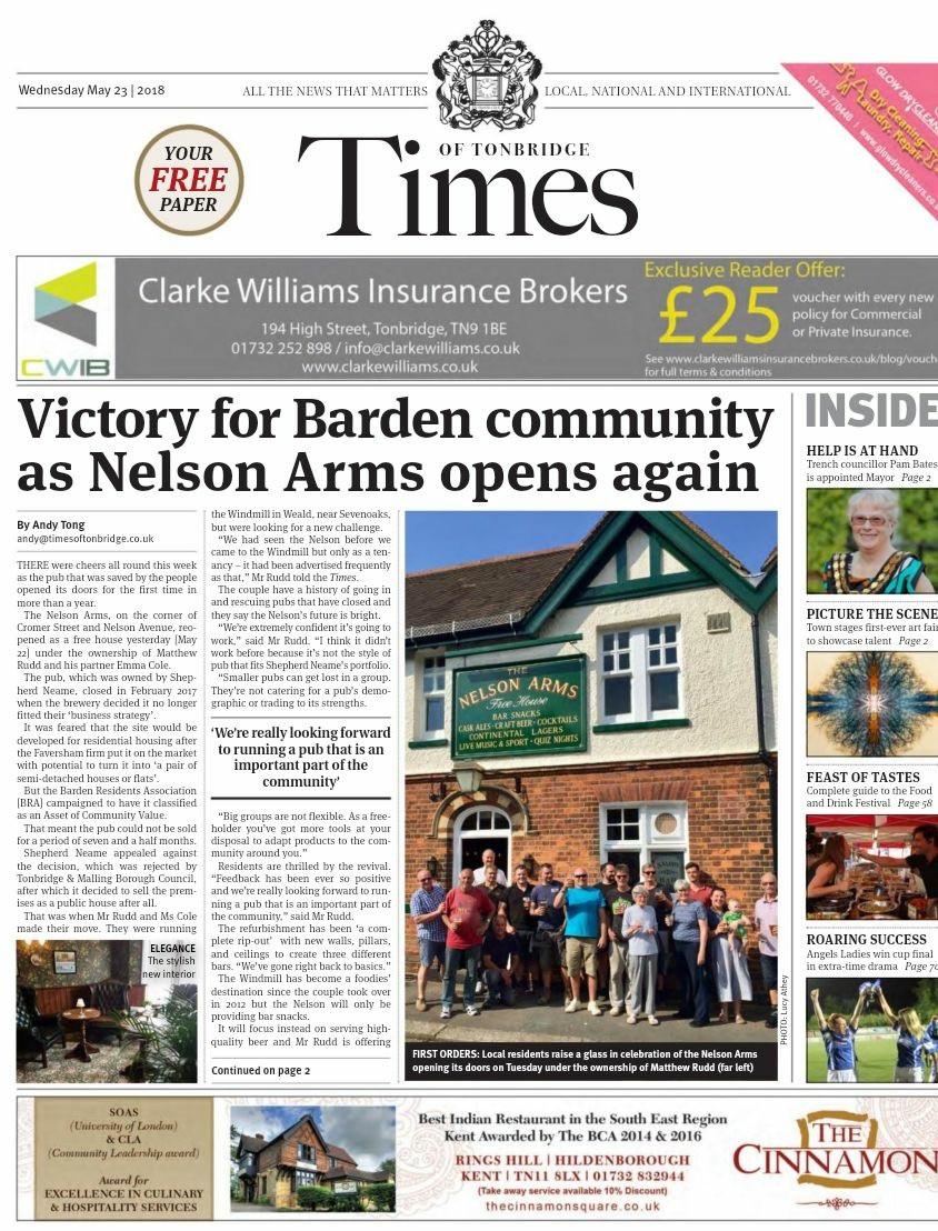Times of Tonbridge Wednesday May 23rd
