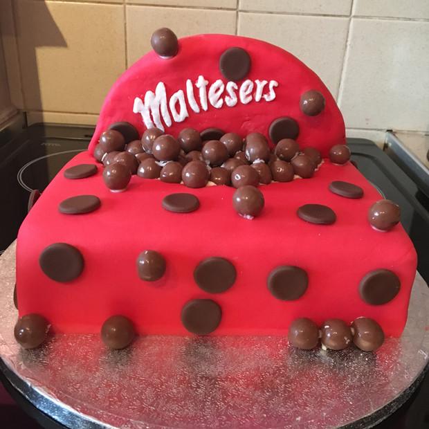 Malteser box cake