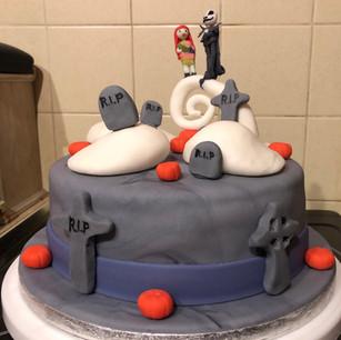 Nightmare Before Christmas insired cake