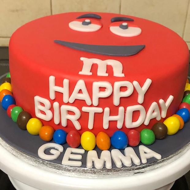 M&M's style cake