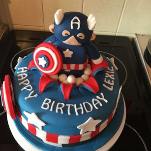 Captain America inspired cake