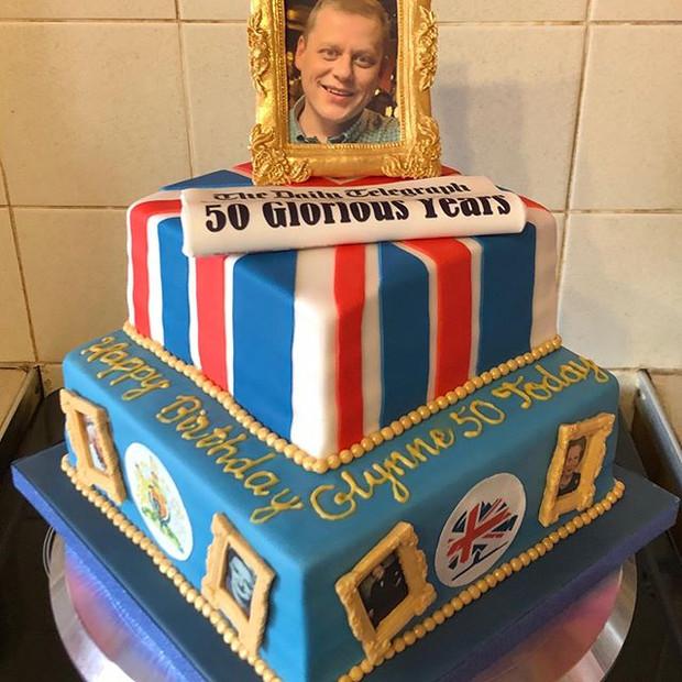 50 Glorious Years Bespoke cake