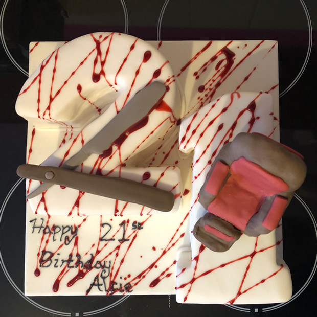 Sweeney Todd inspired 21st Birthday cake