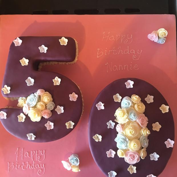 50th Birthday number cake