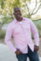 Timeless Connection award winning Las Vegas Wedding Officiant Darryl Mickens at a scenic park in Clark County, NV
