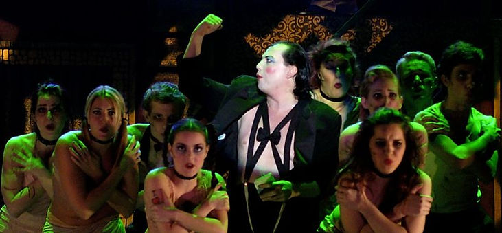 """Bobby Bruce as the Emcee in """"Cabaret"""" by Uncle Randy Productions"""