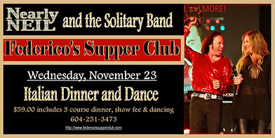Nearly Neil and the Solitary Band at Federico's Nov 23