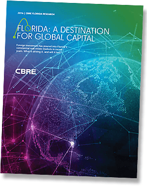 Foreign investment pouring into Florida's commercial real estate market, according to CBRE repor