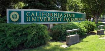Sacramento State signage for PCI Journal