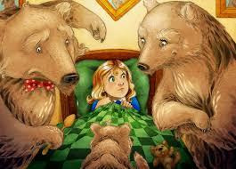 Goldilocks in bed with bears 2015