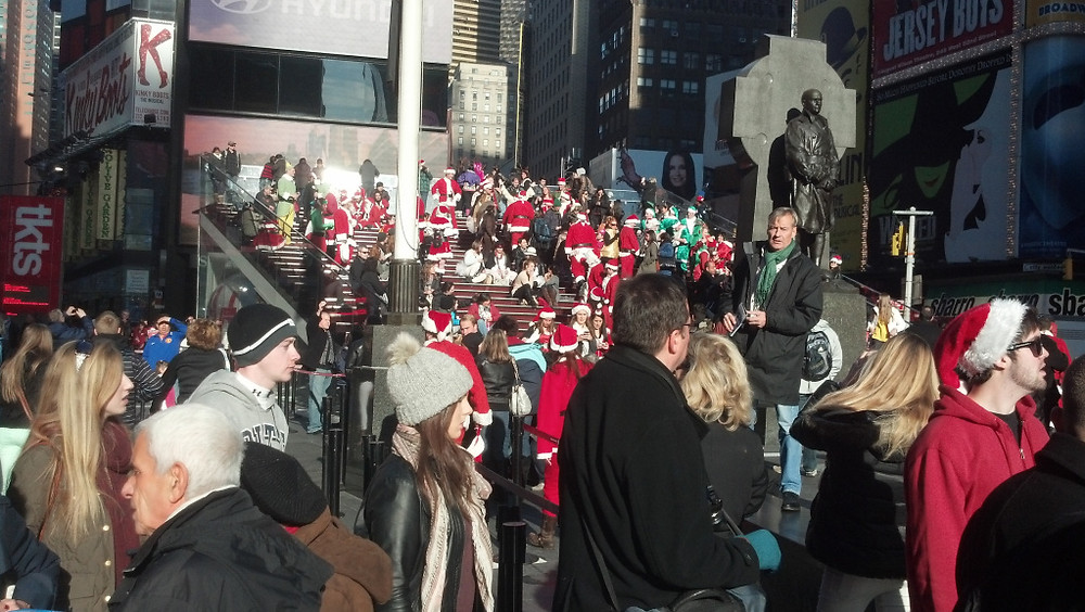 Santacon in New York City 2012
