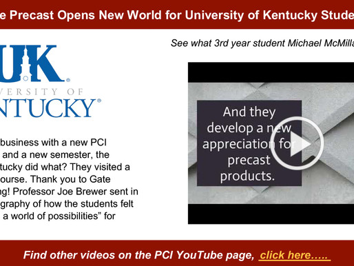 GATE PRECAST Opens New Possibilities for University of Kentucky Precast Studio Students