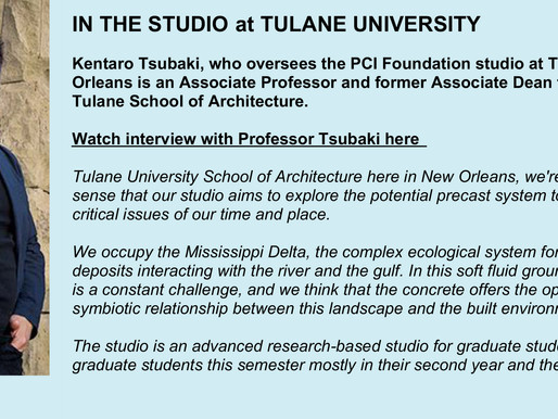 Tulane's Precast Studio Is Advanced And Research-Based For Graduate Students of Architecture