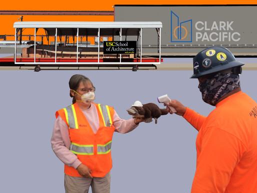 PCIF Mascot PETEY Gets Temperature Check at Clark Pacific Plant in Fontana, CA