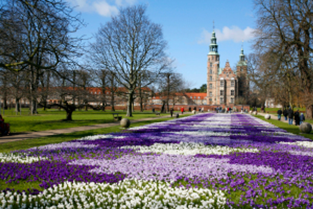 Stockholm Rosenborg Castle in spring