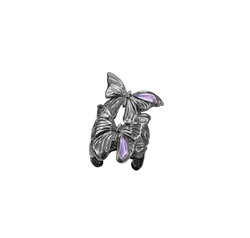ASKILL 戒指 - 黑色鍍銠純銀,鑲嵌紫晶建議售價22,400