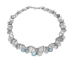ASKILL 全球限量項鍊氧化純銀,鑲嵌藍色拓帕石建議售價92,000