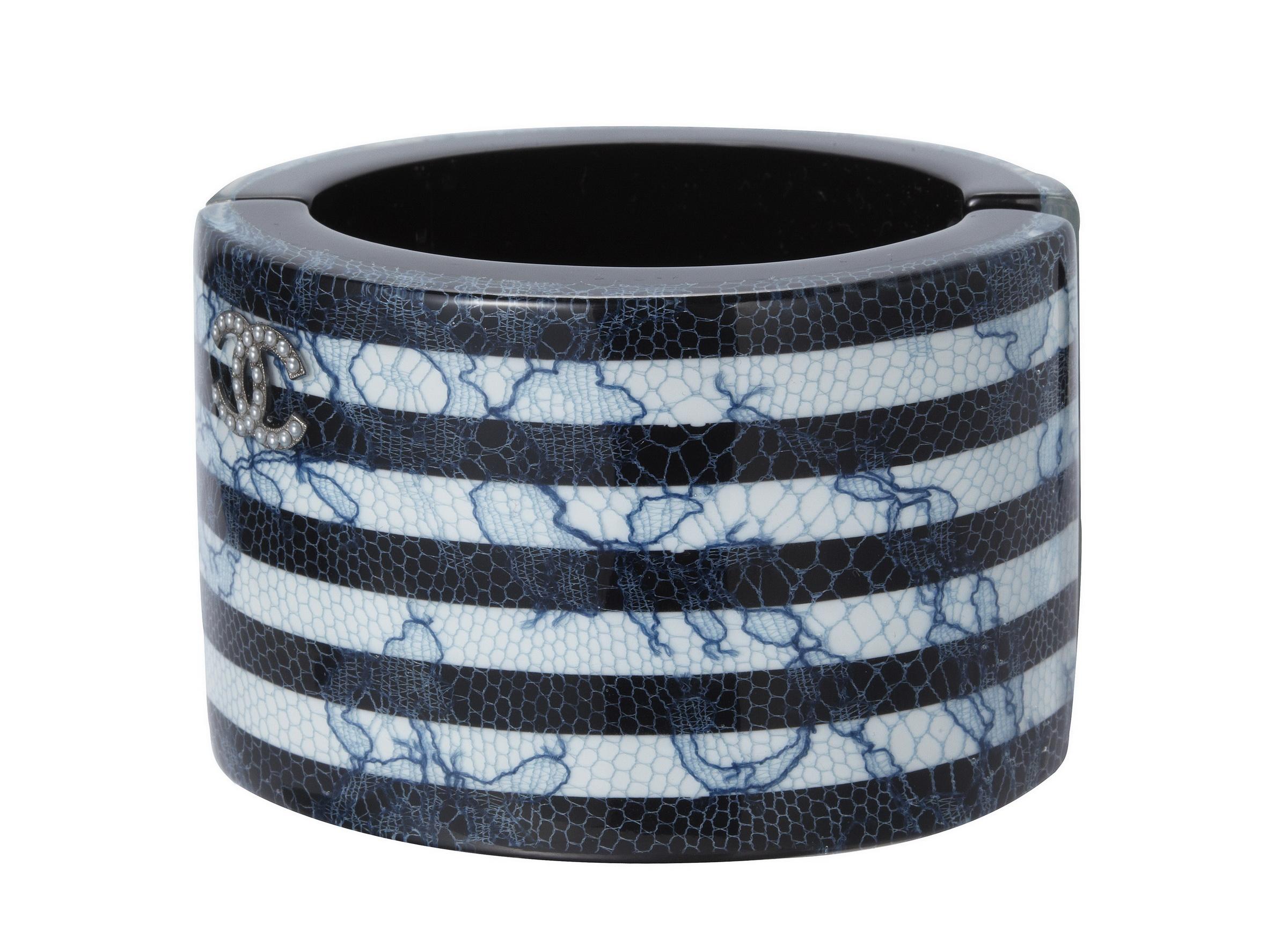 藍色蕾絲條紋寬手環 售價NT$50,500